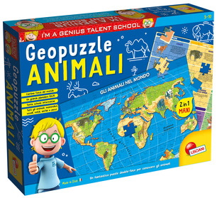 I\'M GENIUS GEOPUZZLE ANIMAL D.MONDO80748