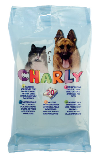 REFILL SALVIETTE ANIMALI CHARLY 20PZ