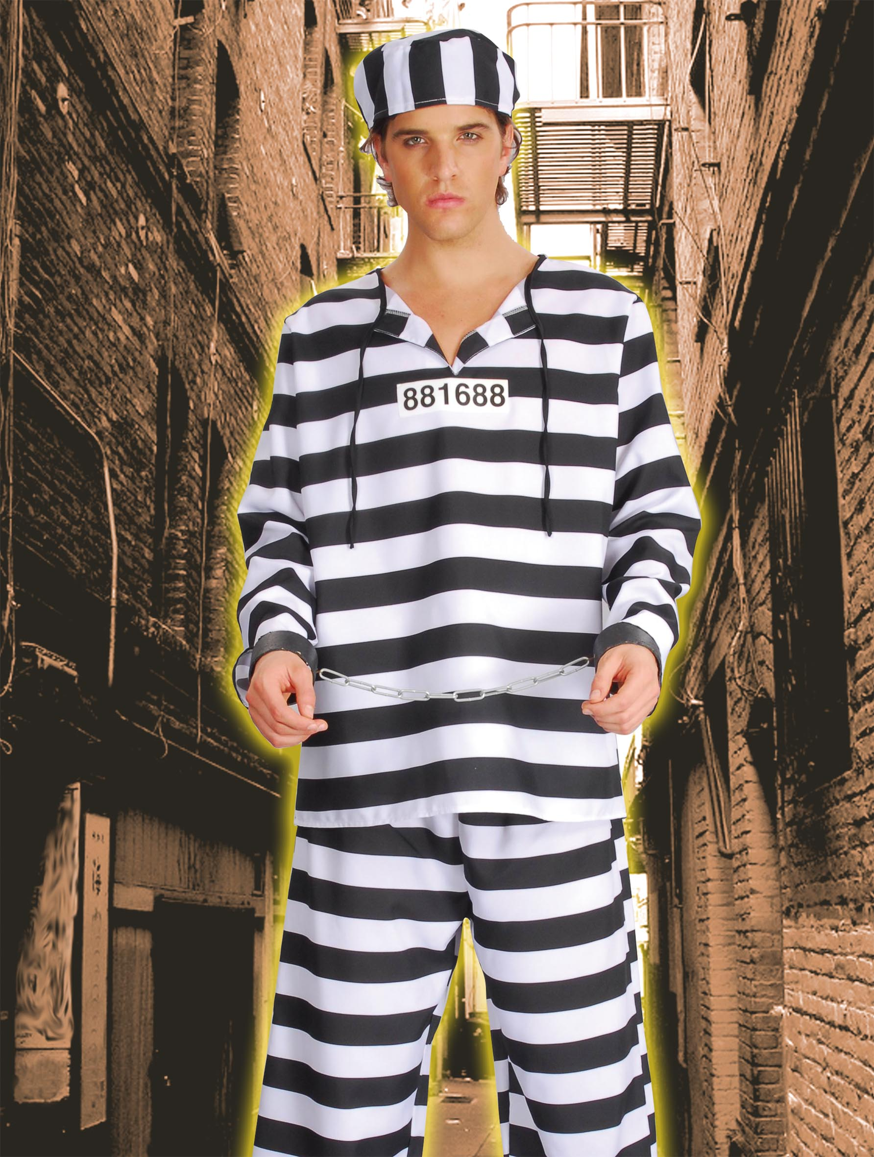 COSTUME CARCERATO ADULTO 62019