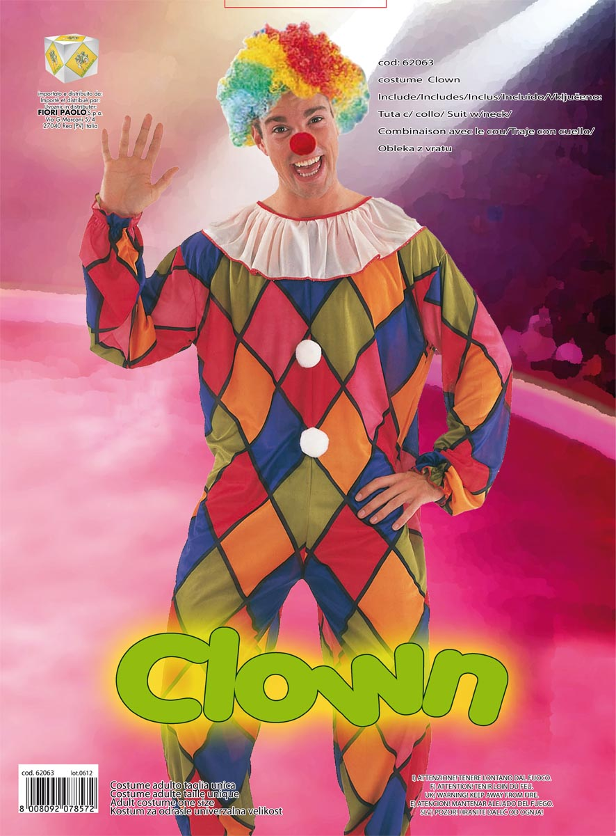 COSTUME CLOWN ADULTO TG.UNICA 62063