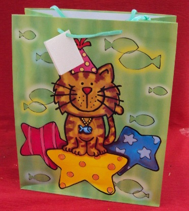 BORSA CARTA GATTO 26X14X33 802264012