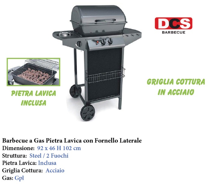 BARBEQUE GAS PIETRA LAV.C/FORN.92X46X102