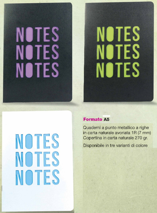 B/NOTES FUSTELLATI A5 RTS